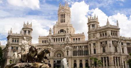 cibeles: Cibeles statue and Madrid City Hall Stock Photo
