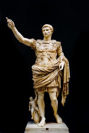 Roman statue of emperor Caesar Augustus Stock Photo