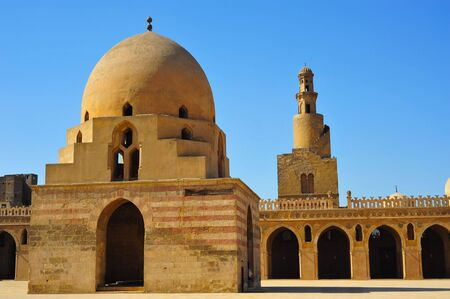 ibn: View of Ibn Tulum mosque in Cairo, Egypt Stock Photo