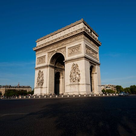 triomphe: Arc de Triomphe - Arch of Triumph, in Paris, France