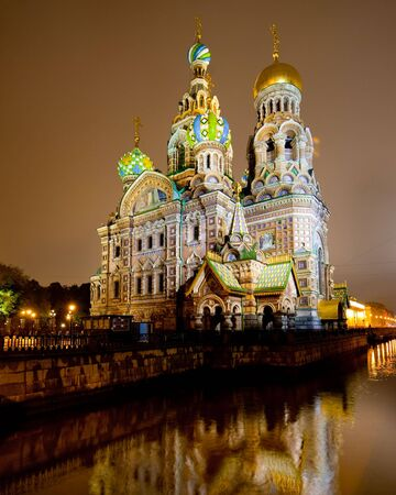 Church of the savior on spilled blood or Cathedral of the Resurrection of Christ, in Saint Petersburg, Russia Stock Photo