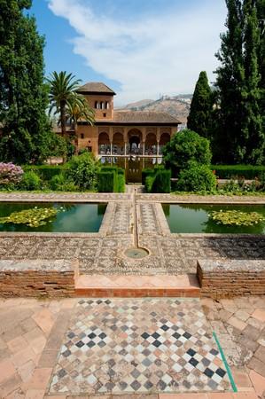 the citadel: The Alhambra, most famous arab citadel in Granada, Spain