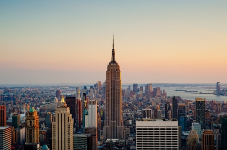 empire state building: View of the Empire state building in Manhattan