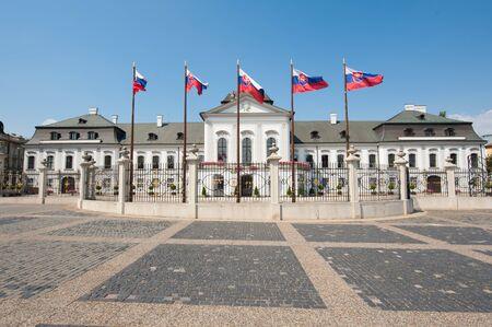 goverment: Presidential place at Hodzovo square, Bratislava, Slovakia