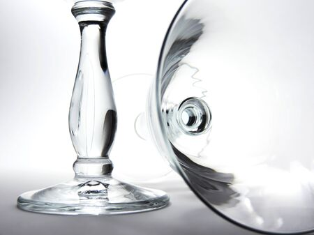 contrast: empty wineglasses, high contrast shot study.
