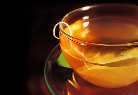 assam tea: Green tea, close up