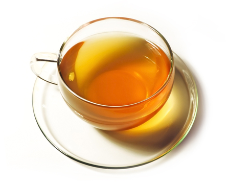Tea cup, isolated on white. Standard-Bild