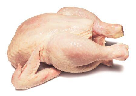raw chicken: Raw chicken isolated on white