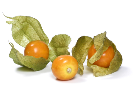 cape gooseberry: Winter Cherry, Fruit, Orange Color, Food, Objects, White Background, Macro, Close-up, Leaf, Ripe, cape gooseberry, Isolated, Isolated On White, Studio Shot, Selective Focus, Heap, Healthy Eating, Raw Food, Eating, Berry Fruit, Healthy Lifestyle, Freshness