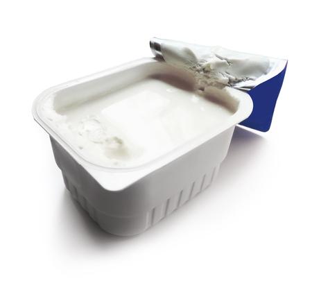 cream cheese, quark, isolated on white