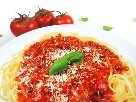 spaghetti bolognese: Spaghetti Bolognese, isolated on white