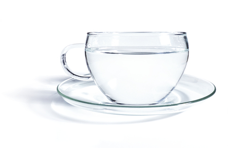 Glass of tea or hot water, close up