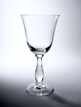 wineglass: Elegant, empty wineglass, study shot. Stock Photo