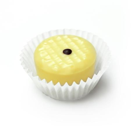 truffe blanche: Chocolat blanc truffe, tourné en studio