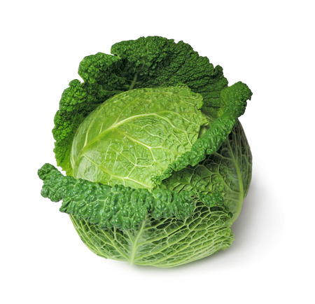 savoy cabbage: Savoy cabbage, isolated on white.