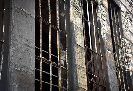 ruin: Old factory building. Ruin.