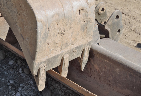 excavator shovel, close up
