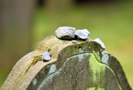 jewish: old jewish tombstone, close-up