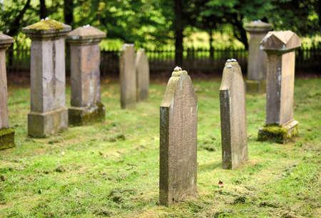 jewish: Old jewish cemetery Stock Photo
