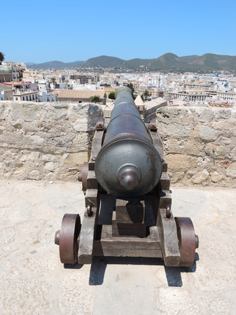 building feature: Cannon of the fortification of Ibiza town
