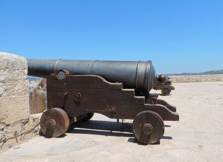 building feature: Cannons of the fortification of Ibiza town