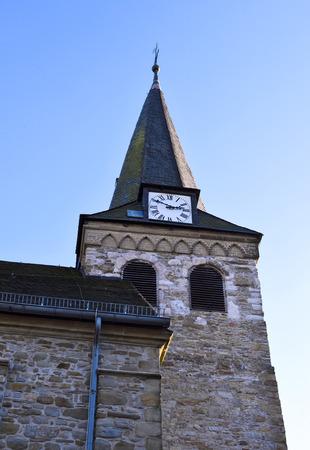 church tower: Church tower and clear blue sky.