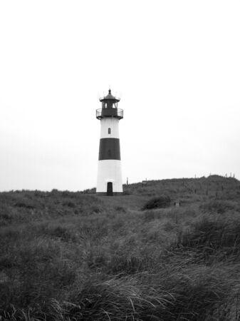 toned image: Lighthouse, black and white toned image.