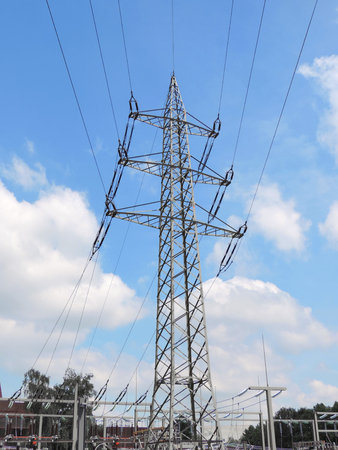 electricity substation: Electric station and hydro tower
