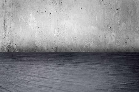 piso piedra: Grunge entre fondo con copia espacio. piso de piedra y muro de hormigón. elemento de diseño. Foto de archivo