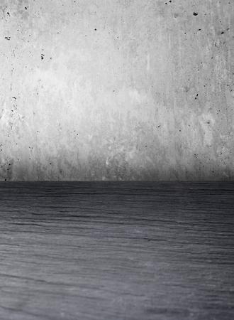 piso piedra: Grunge fondo interior con espacio de copia. piso de piedra y muro de hormigón. elemento de diseño.