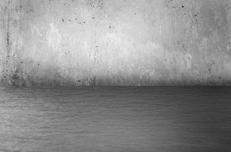 piso piedra: Grunge entre fondo con copia espacio. piso de piedra y muro de hormig�n. elemento de dise�o. Foto de archivo