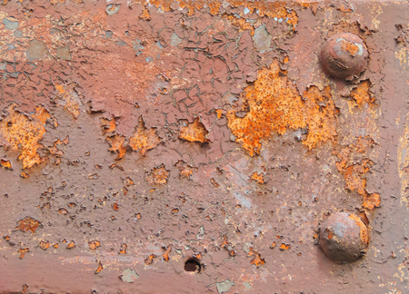 rivets: rusty background with rivets