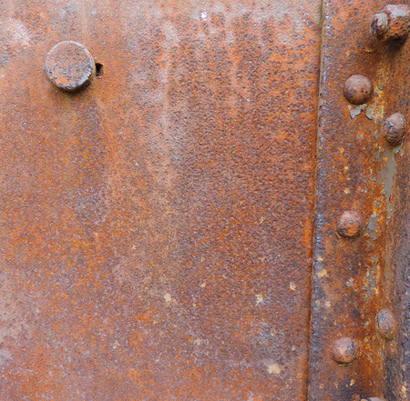 rusty background: rusty background with rivets