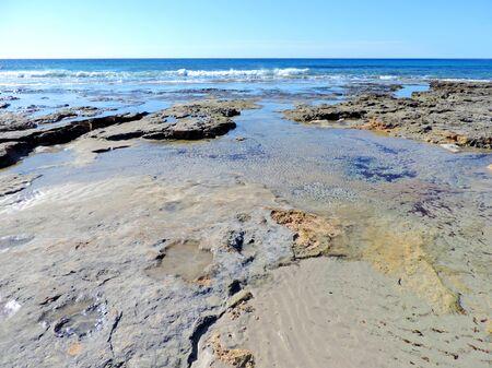 tide, sea scene with low tide