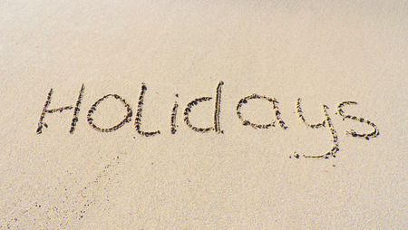 sand drawing: Holidays, drawing in the sand