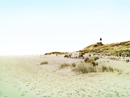 beacon: Lighthouse or beacon on Sylt, Germany. Stock Photo