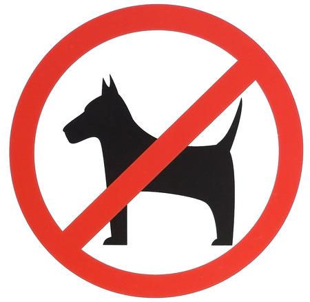 prohibition: Accès interdit aux chiens signe. signe d'interdiction.