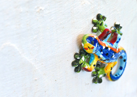 lizzard: Decorative ceramic gecko or wall lizzard, close-up shot