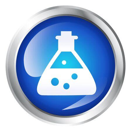 symbole chimique: Blank, icone brillant ou bouton avec le symbole chimique.