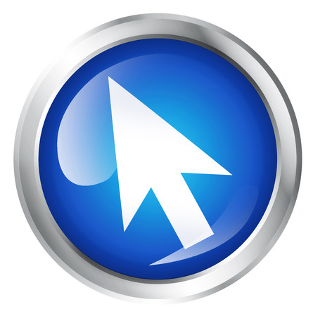 tech no: Glossy icon or button with computer mouse symbol.