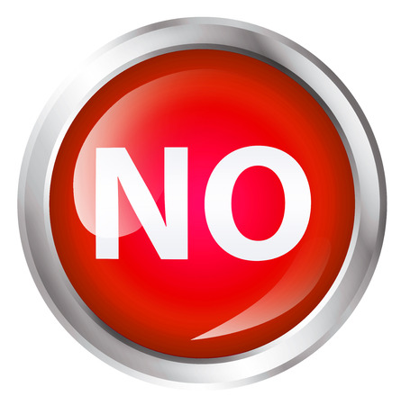 trespassing: Glossy icon or button with NO text. Negation symbol. Stock Photo