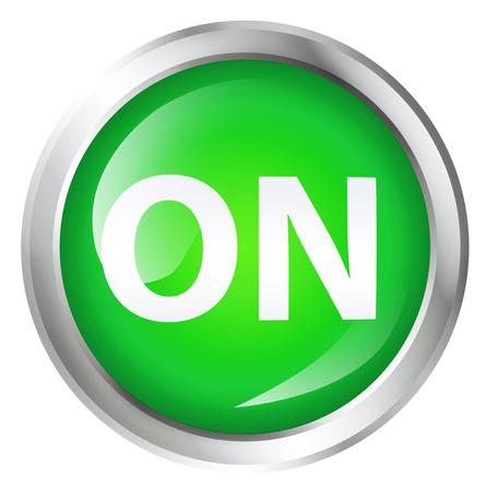 光沢のあるアイコンまたはテキストのボタンです。