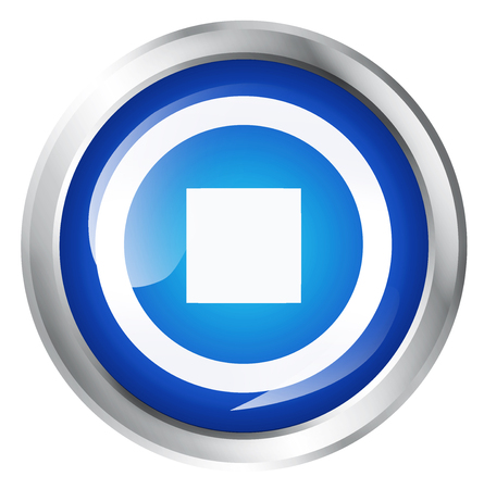 off the record: Glossy icon or button with stop symbol.