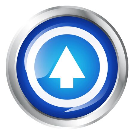 upstairs: Glossy icon or button with arrow up symbol. Upload.