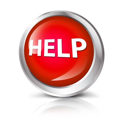 help symbol: Glossy icon or button with help symbol. Stock Photo