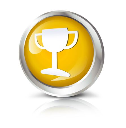 Glossy icon or button with award symbol.