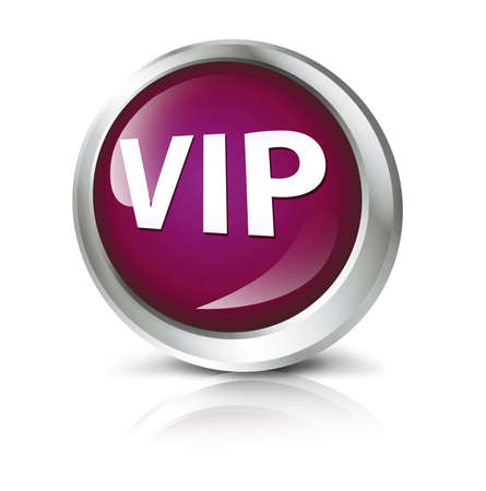 best quality: Glossy icon or button with VIP symbol. Stock Photo
