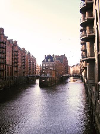 famous place: Famous place at Hamburg Speicherstadt.