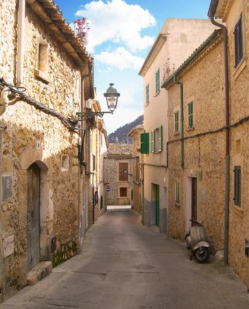 Idyllic, narrow lane in a spanish village.