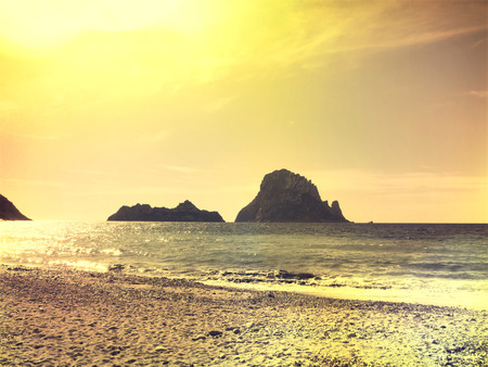 vedra: Es Vedra in the sunset, view from Cala DHort.